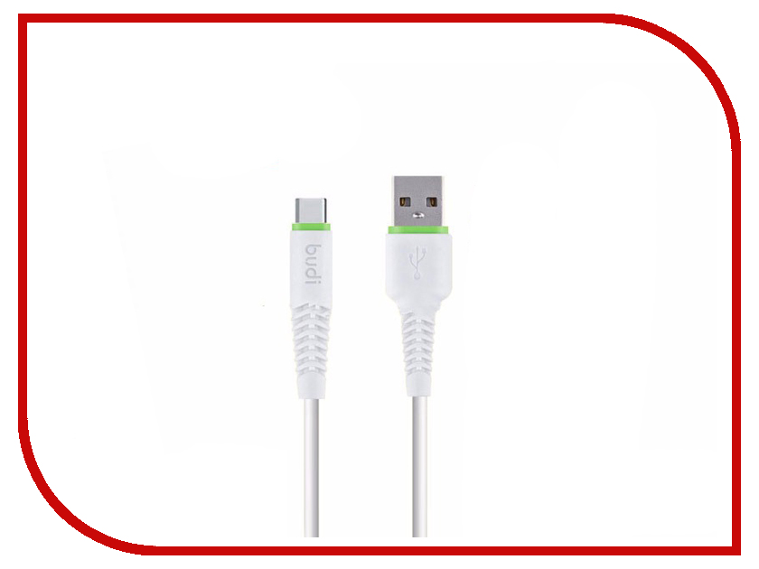 Аксессуар Budi USB - Type-C 1.2m White M8J150T 50pcs micro usb 3 0 male to usb c usb 3 1 type c female extension data cable for macbook tablet 10cm by fedex