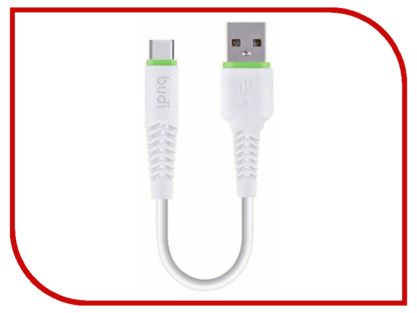 Аксессуар Budi USB - Type-C 0.2m White M8J150T20 50pcs micro usb 3 0 male to usb c usb 3 1 type c female extension data cable for macbook tablet 10cm by fedex