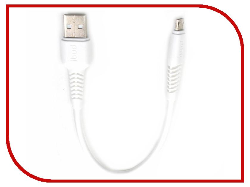 Аксессуар Budi USB - MicroUSB 0.2m White M8J150M20 аксессуар budi usb microusb lightning m8j175 1m silver