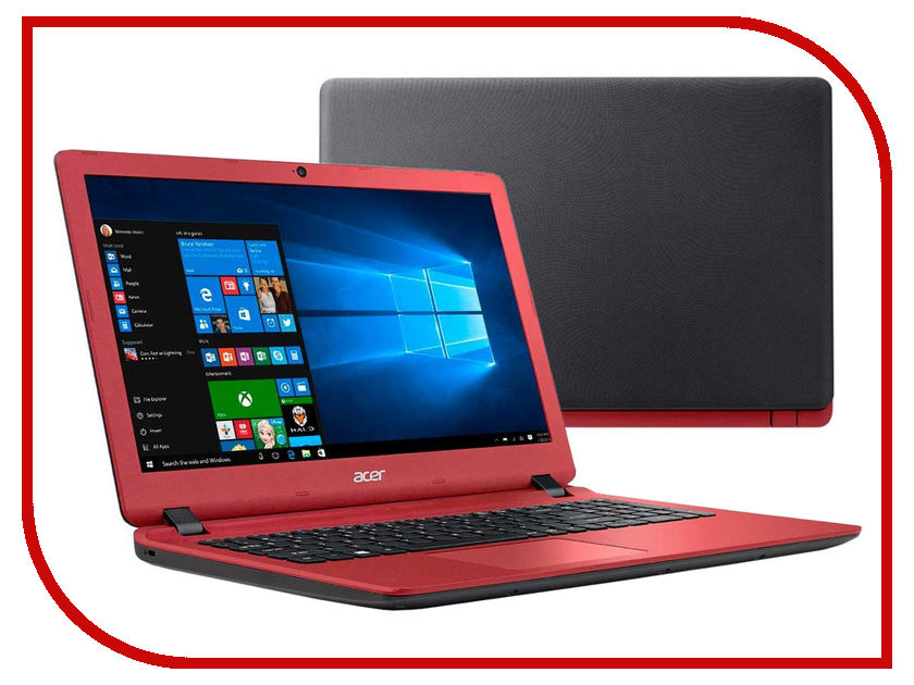 Ноутбук Acer Aspire ES1-523-86DK NX.GL0ER.002 Black-Red (AMD A8-7410 2.2 GHz/8192Mb/1000Gb/AMD Radeon R5/Wi-Fi/Cam/15.6/1366x768/Windows 10 64-bit) nokotion laptop motherboard for acer aspire e1 521 e300 cpu onboard ddr3 nb y1g11 002 nby1g11002 la 8531p warranty 60 days