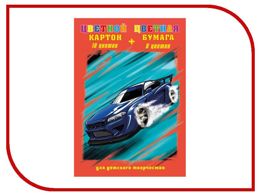 Набор Феникс+ A4 Цветной картон + Цветная бумага 47156 набор для творчества феникс цветной картон 10цв цветная бумага 8цв лисички на склейке