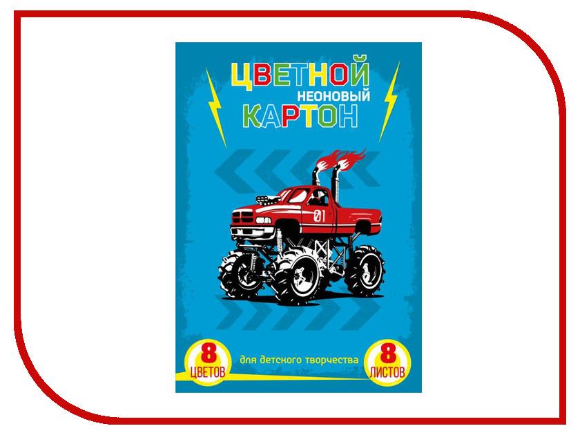 Цветной картон Феникс+ A4 8 листов Неоновый 47152 цены онлайн