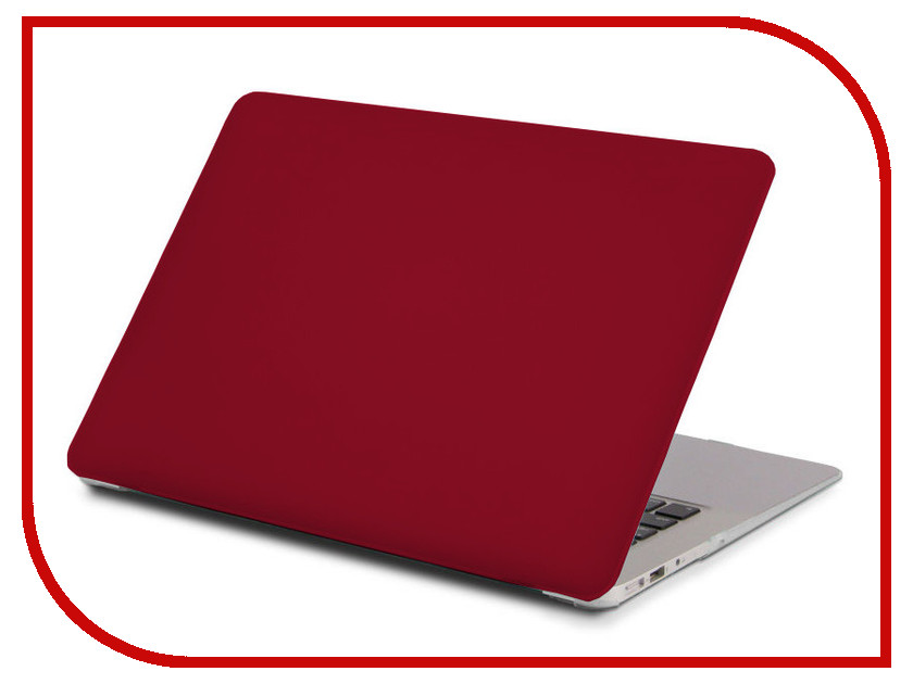 Аксессуар Чехол 13-inch Gurdini для APPLE MacBook Air 13 Plastic Matt OEM Bordo 900137