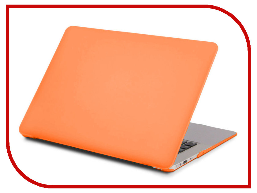 Аксессуар Чехол 13-inch Gurdini для APPLE MacBook Air 13 Plastic Matt OEM Orange 220047 vivacase harlequin orange чехол для macbook air 12 13 3