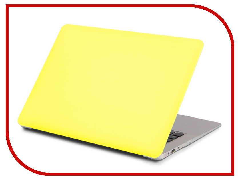 Аксессуар Чехол 13-inch Gurdini для APPLE MacBook Pro Retina 13 2016 With TouchBar Plastic Acid Yellow 902462