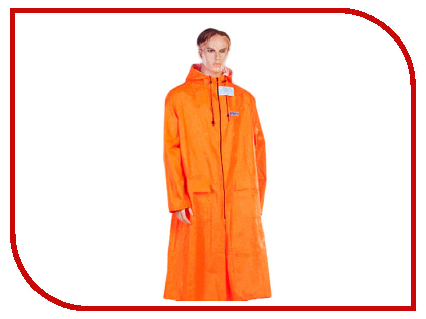 Плащ-дождевик Water Proofline Poseidon р.52-54/182-188 Orange