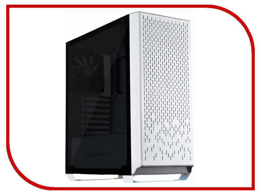 Корпус SilverStone Case Ss Primera White SST-PM02W-G корпус silverstone case ss precision ps11b q black sst ps11b q