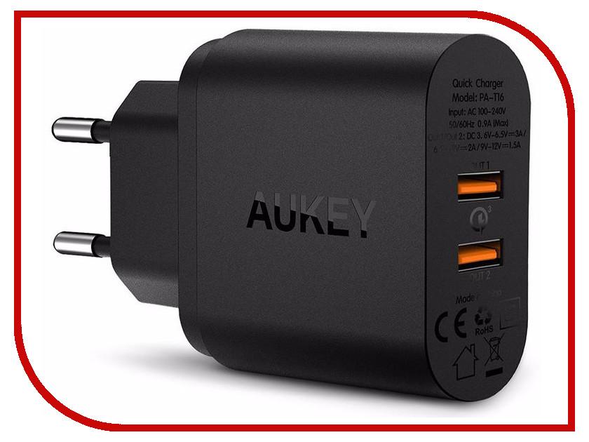Зарядное устройство Aukey PA-T16 2xUSB LLBT65571 зарядное устройство aukey 4xusb cc t9