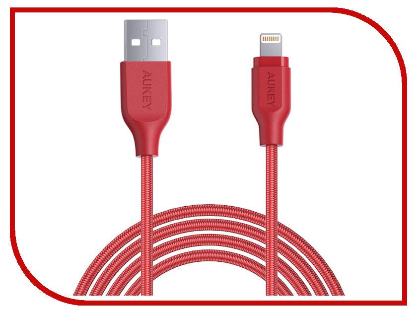 где купить Аксессуар Aukey CB-AL2 MFi Lightning 8-pin 2m Red LLTS148184 по лучшей цене