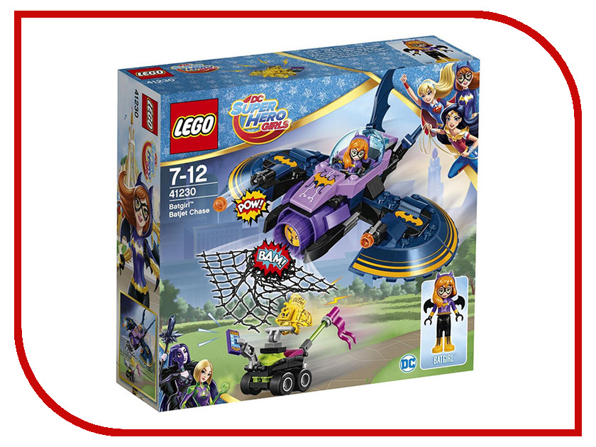 Конструктор Lego DC Super Hero Girls Погоня на бэт-джете 41230 конструктор lego dc super hero girls харли квинн спешит на помощь 41231