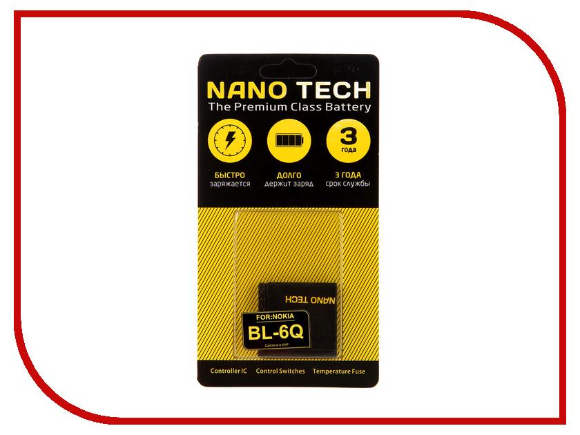 Аккумулятор Nano Tech (Аналог BL-6Q) 970 mAh для Nokia 6700 аккумулятор nano tech аналог bl 5u 1000 mah для nokia 3120 arte e66 5530