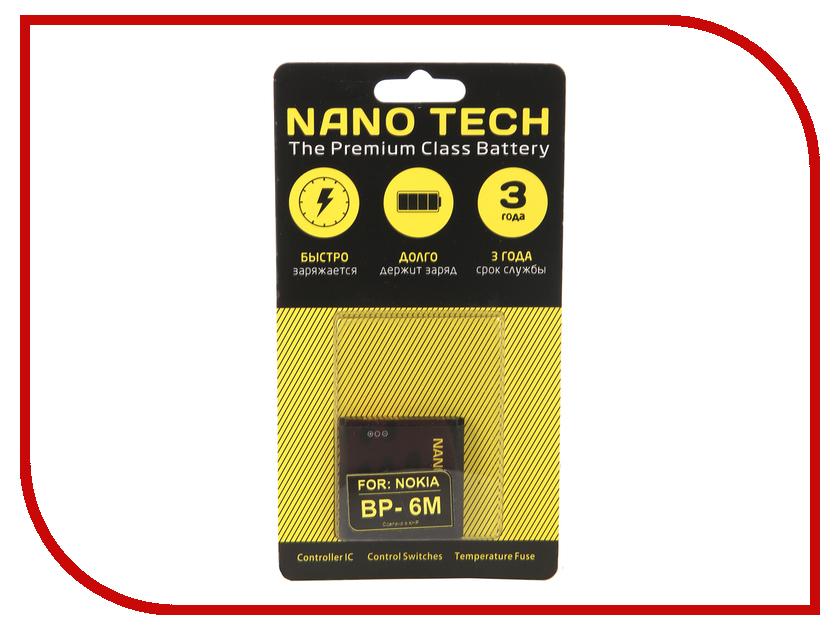 Аккумулятор Nano Tech (Аналог BP-6M) 1070 mAh для Nokia 3250/6233/N73 аккумулятор nano tech аналог bl 5u 1000 mah для nokia 3120 arte e66 5530