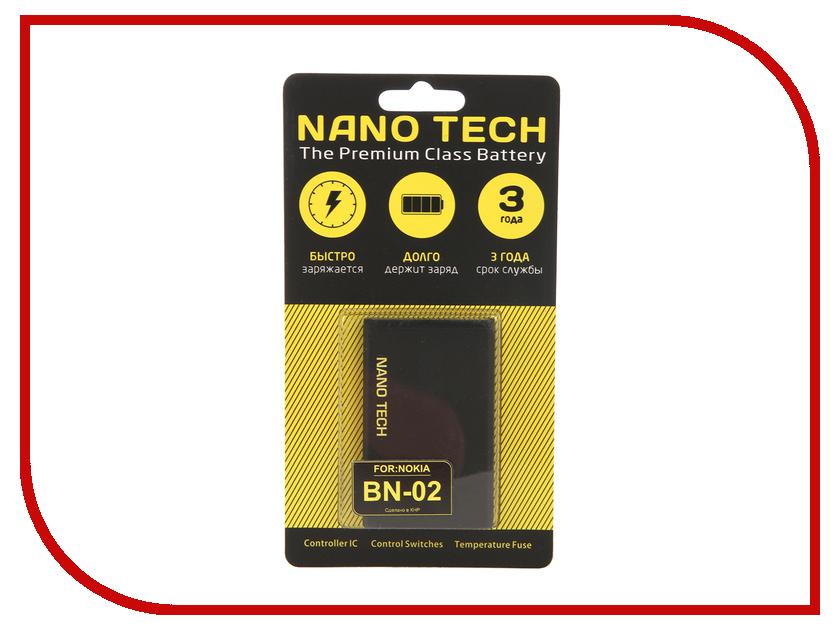 Аккумулятор Nano Tech (Аналог BN-02) 2000 mAh для Nokia XL аккумулятор nano tech аналог bp 5m 900 mah для nokia 5610 6220 8600