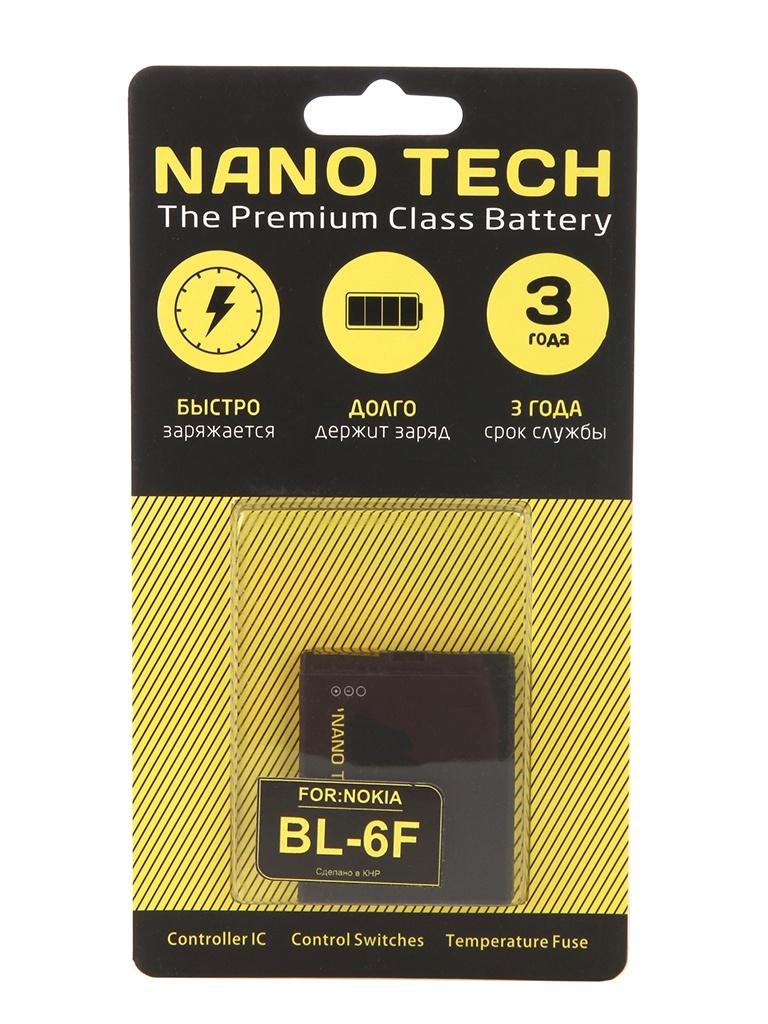 Аккумулятор Nano Tech (Аналог BL-6F) 1200 mAh для Nokia N958G/6290/E65 аккумулятор nano tech аналог bl 5h 1830 mah для nokia lumia 630 635