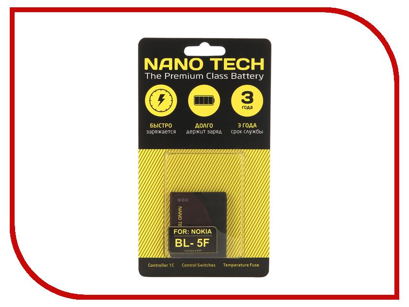 Аккумулятор Nano Tech (Аналог BL-5F) 950 mAh для Nokia N95 аккумулятор nano tech аналог bl 5u 1000 mah для nokia 3120 arte e66 5530