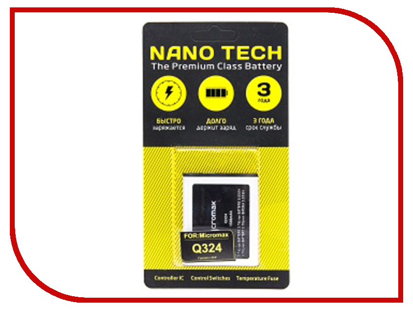 Фото - Аккумулятор Nano Tech 1500 mAh для Micromax Q324 hae soo kwak nano and microencapsulation for foods