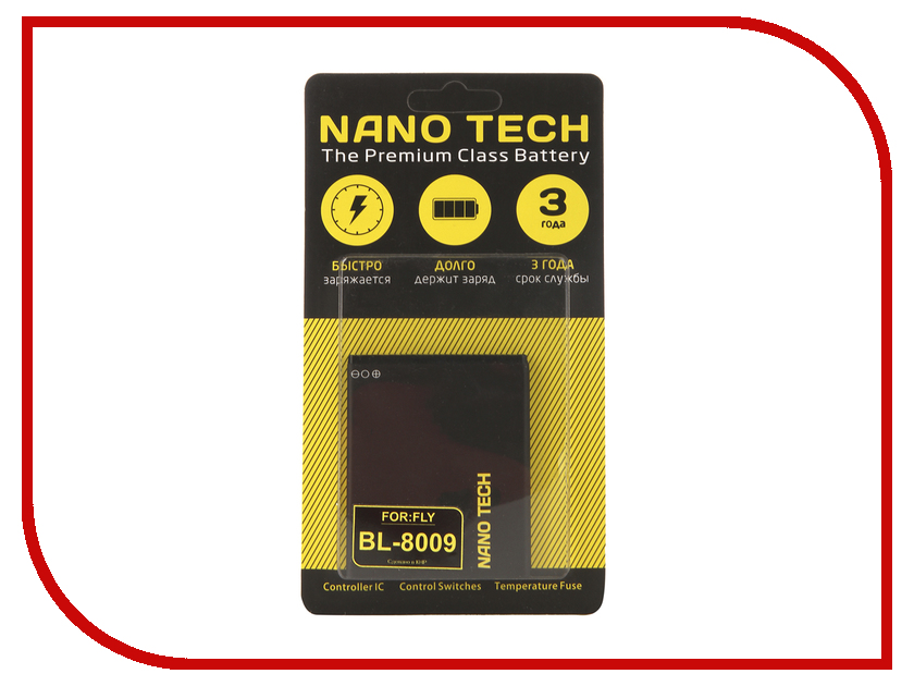 Аккумулятор Nano Tech (Аналог BL 8009) 1800mAh для Fly FS451 Nimbus 1 mobile phone lcds complete for fly fs501 nimbus 3 lcd touch digitizer assembly for fly fs 501 lcd screen display free tracking