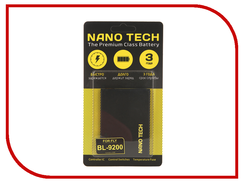 Аккумулятор Nano Tech (Аналог BL 9200) 2000mAh для Fly FS504 Cirrus 2 аккумулятор nano tech аналог bl 5b 850 mah для nokia 6120 6020 7260
