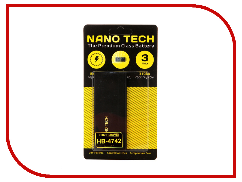 Аккумулятор Nano Tech (Аналог HB4742A0RBC) 2300mAh для Huawei Honor 3C