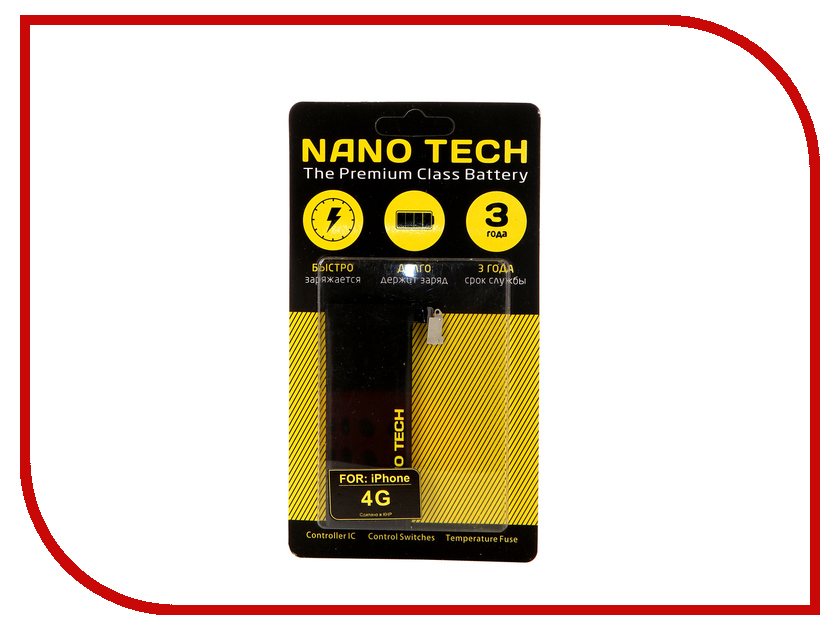 Аккумулятор Nano Tech 1420 mAh для APPLE iPhone 4 цена