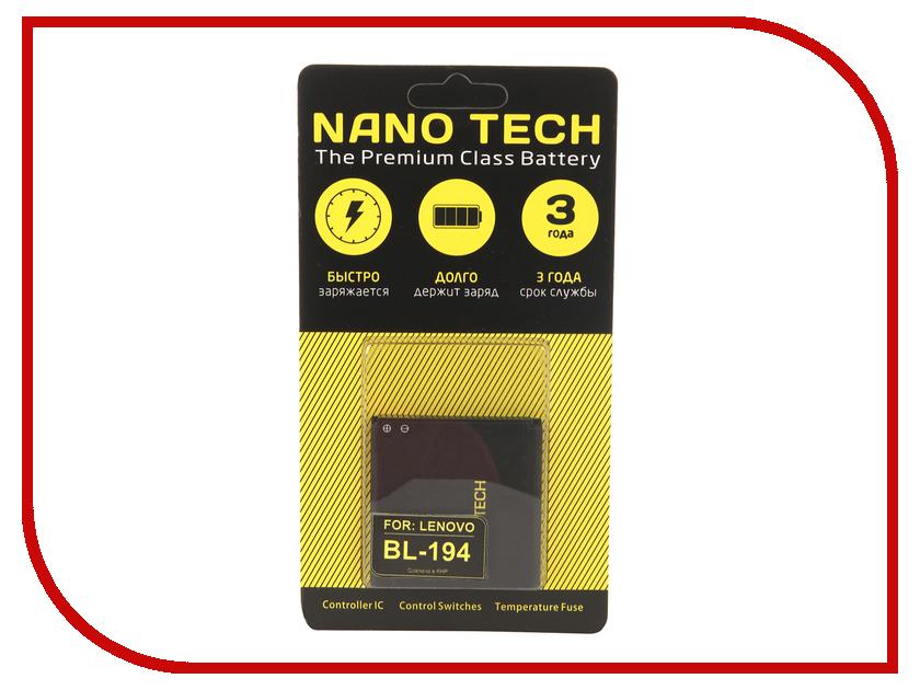 Аккумулятор Nano Tech (Аналог BL 194) 1500mAh для Lenovo A520/A780/A690/A660