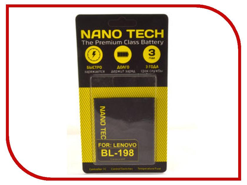 Аккумулятор Nano Tech (Аналог BL 198) 2250mAh для Lenovo A850/A830/A859/S880/S890/K860 аккумулятор nano tech аналог bl 5b 850 mah для nokia 6120 6020 7260