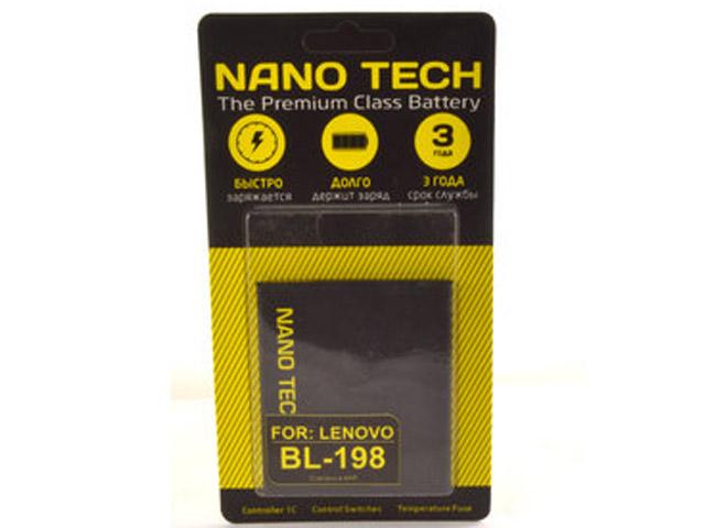Аккумулятор Nano Tech (Аналог BL 198) 2250mAh для Lenovo A850/A830/A859/S880/S890/K860 цена