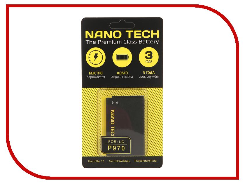 Аккумулятор Nano Tech (Аналог BL-44JN) 1500mAh для LG P970 Optimus dock connector for lg optimus g2 d800 d801 charger charging port usb flex cable repair headphone jack microphone free shipping