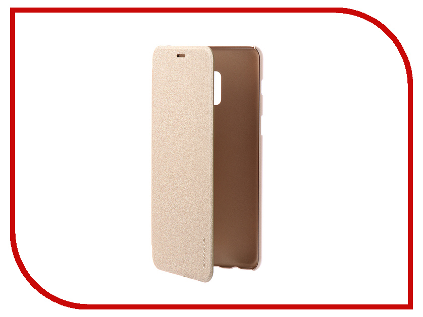 Аксессуар Чехол для Samsung Galaxy A8 Plus 2018 Nillkin Sparkle Leather Case Gold стоимость