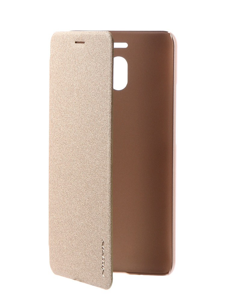 Аксессуар Чехол Nillkin для Meizu M6 Note Sparkle Leather Case Gold