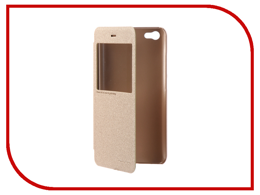 Аксессуар Чехол для Xiaomi Redmi Note 5A Nillkin Sparkle Leather Case Gold nillkin sparkle leather case чехол для sony xperia xz1 gold