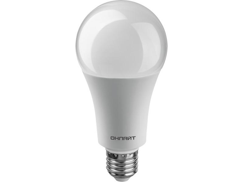 Лампочка ОнЛайт A70 E27 25W 220V 4000K 2100Lm Daylight 61 954 OLL-A70-25-230-4K-E27