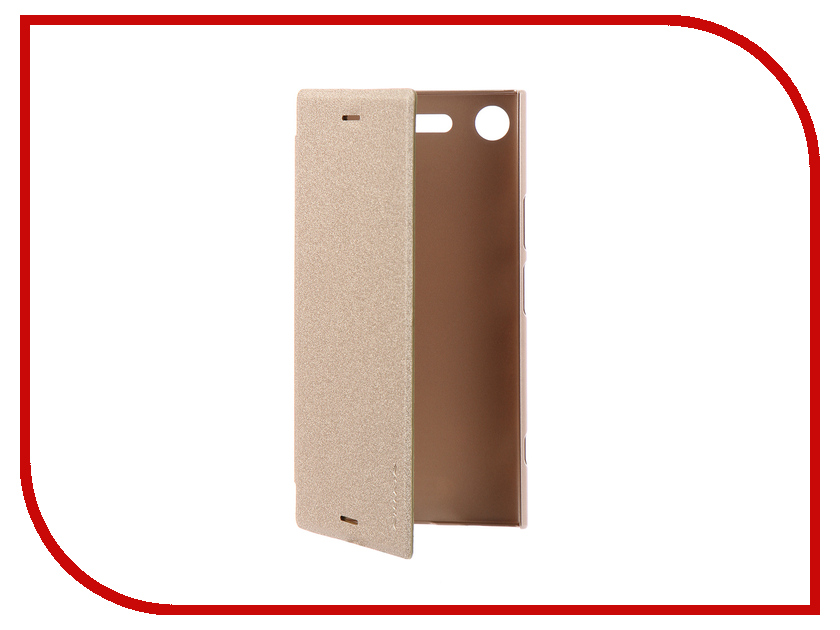 Аксессуар Чехол для Sony Xperia XZ1 Nillkin Sparkle Leather Case Gold