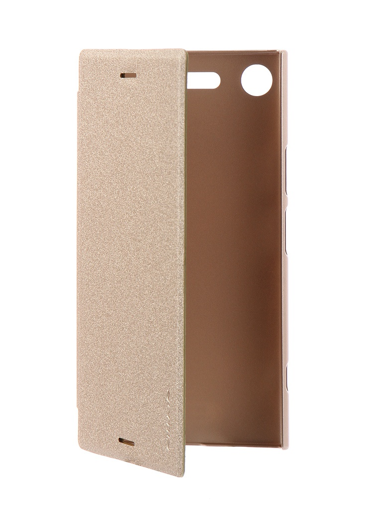 Чехол Nillkin для Sony Xperia XZ1 Sparkle Leather Case Gold
