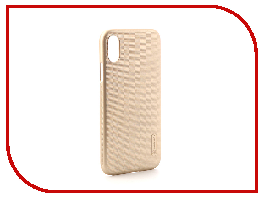 Аксессуар Чехол Nillkin Super Frosted Shield для Apple iPhone X Gold