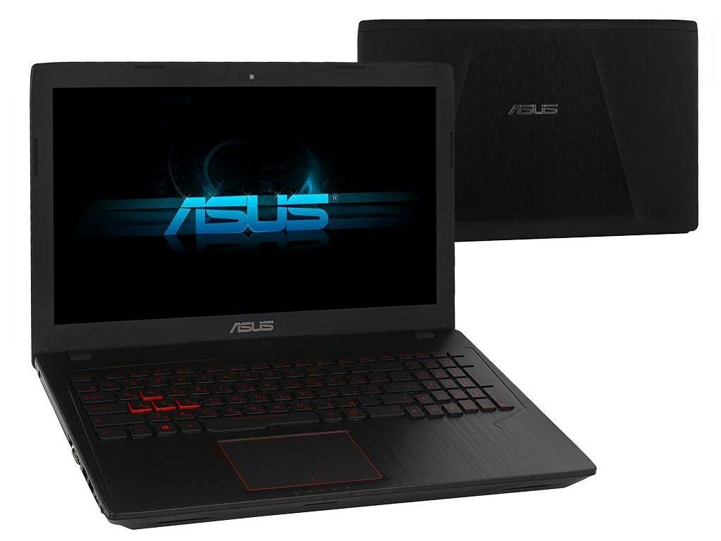 где купить Ноутбук ASUS FX553VE-FY527T 90NB0DX7-M08180 Black (Intel Core i5-7300HQ 2.5 GHz/16384Mb/1000Gb/No ODD/nVidia GeForce GTX 1050Ti 2048Mb/Wi-Fi/Bluetooth/Cam/15.6/1920x1080/Windows 10 64-bit) дешево