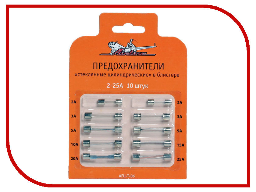 Набор предохранителей Airline AFU-T-06 коврик липучка airline asm t 02
