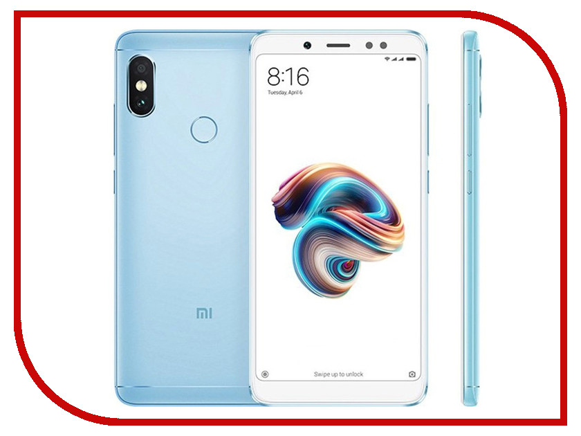 Сотовый телефон Xiaomi Redmi Note 5 3/32GB Blue xiaomi redmi note 4 5 5 inch 4g 64gb smartphone blue