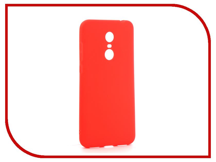 цена на Аксессуар Чехол-накладка для Xiaomi Redmi 5 Plus Gurdini Ultra Slim Silicone Red