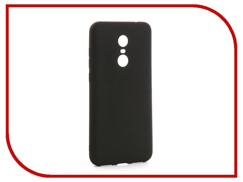 цена на Аксессуар Чехол-накладка для Xiaomi Redmi 5 Plus Gurdini Ultra Slim Silicone Black
