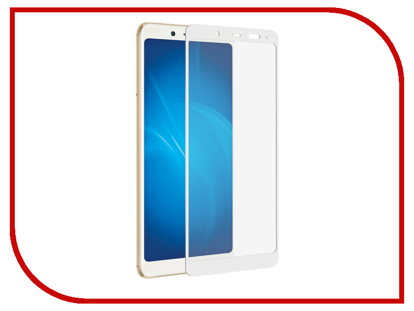 Аксессуар Стекло противоударное для Xiaomi Redmi Note 5 Pro/Mi 6X Gurdini 2D Full Screen 0.26mm White 906232 for xiaomi redmi note 2 lcd display touch screen tools 100