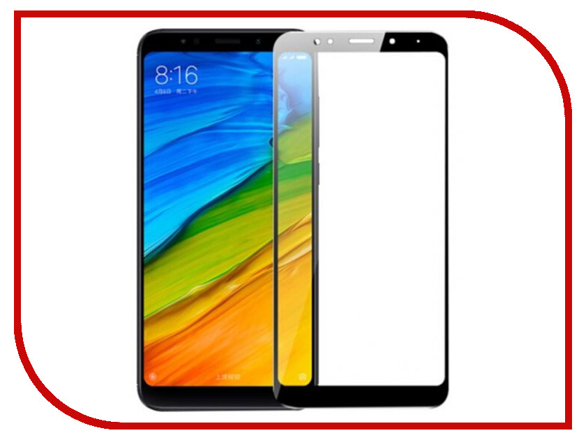 Аксессуар Стекло противоударное для Xiaomi Redmi 5 Plus Gurdini 2D Full Screen 0.26mm Black 906230 for lenovo zuk z2 lcd screen display with touch screen digitizer panel glass assembly black white replacement parts free shipping