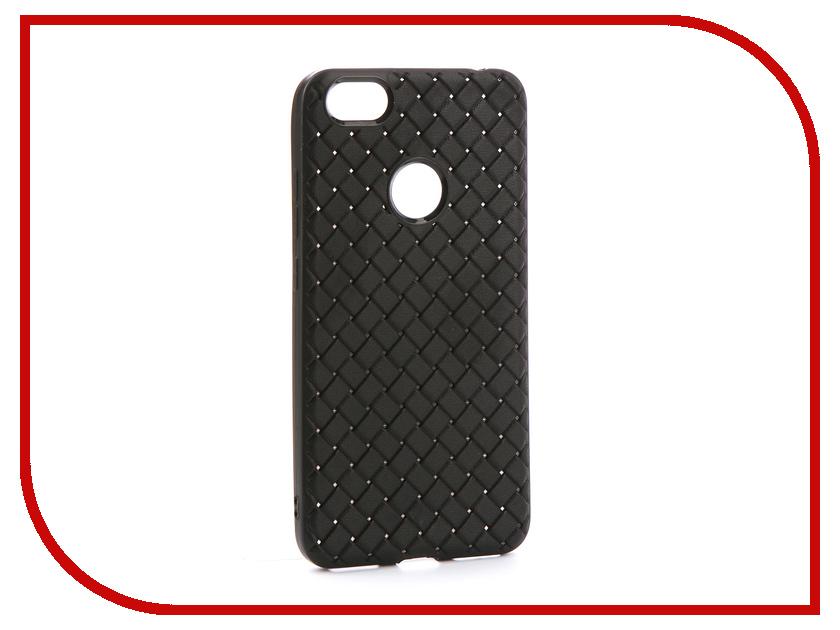 Аксессуар Чехол-накладка для Xiaomi Redmi Note 5A Gurdini Плетенка Silicone Black аксессуар чехол накладка xiaomi redmi note 5 pro gurdini silicone cover black