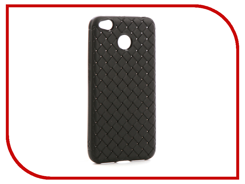 Аксессуар Чехол-накладка для Xiaomi Redmi 4X Gurdini Плетенка Silicone Black 906214