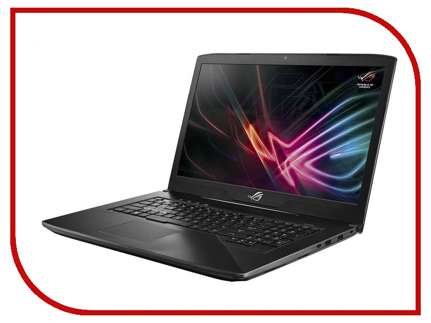 Ноутбук ASUS ROG GL703GE-GC133T 90NR00D2-M02500 Aluminum Black (Intel Core i5-8300H 2.3 GHz/8192Mb/1000Gb + 128Gb SSD/No ODD/nVidia GeForce GTX 1050Ti 4096Mb/Wi-Fi/Cam/17.3/1920x1080/Windows 10 64-bit) ноутбук asus rog gl553ve fy200t 90nb0dx3 m02800 intel core i7 7700hq 2 8 ghz 12288mb 1000gb 256gb ssd dvd rw nvidia geforce gtx 1050ti 4096mb wi fi cam 15 6 1920x1080 windows 10 64 bit