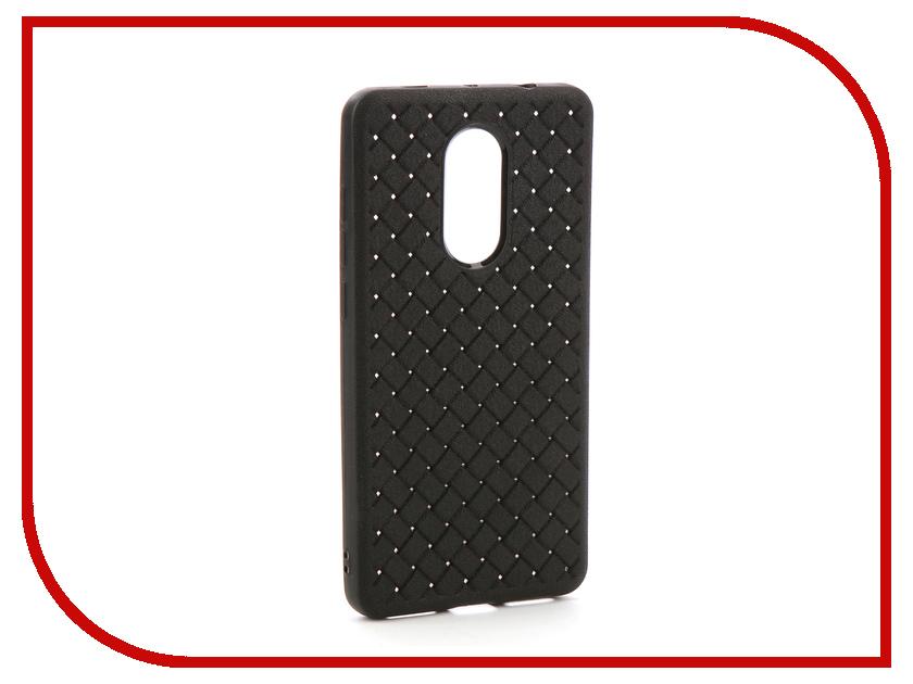 Аксессуар Чехол-накладка для Xiaomi Redmi Note 4X Gurdini Плетенка Silicone Black 906213