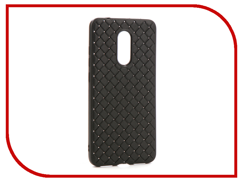 Аксессуар Чехол-накладка для Xiaomi Redmi 5 Gurdini Плетенка Silicone Black 906212
