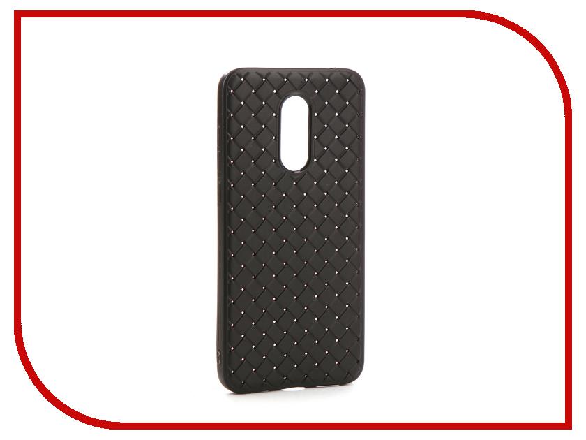 Аксессуар Чехол-накладка для Xiaomi Redmi 5 Plus Gurdini Плетенка Silicone Black 906151