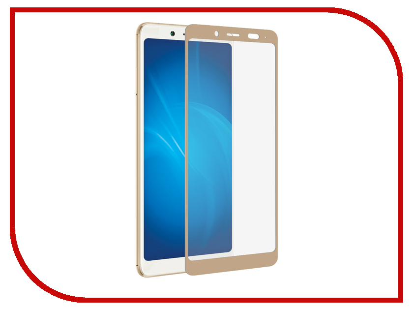 Аксессуар Защитное стекло для Xiaomi Redmi Note 5 Pro Onext с рамкой Gold 41787 аксессуар защитное стекло xiaomi redmi note 3 onext eco 43077