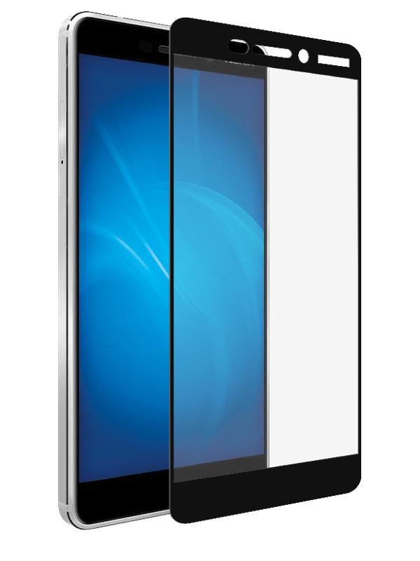 Аксессуар Защитное стекло Onext для Nokia 6.1 2018 Black 41727 защитное стекло onext для nokia 7 plus 2018 641 41768